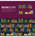 Library bookstore - Seamless pattern with books vector image vector image