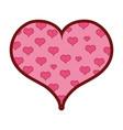 line color hearts design inside big heart vector image vector image