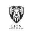 lion logo design classic vintage style element vector image vector image