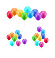 lot flying balloons white background vector image