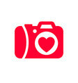 love icon or valentines day sign designed for vector image vector image