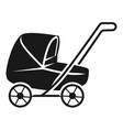 lowered baby stroller icon simple style vector image vector image