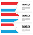 luxembourg flag banners collection independence vector image vector image