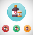 Mixture solution bottles icon set vector image vector image