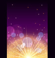 new year banner flyer concept with firework flare vector image vector image