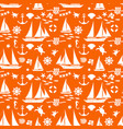 orange summer seamless pattern vector image vector image