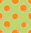 Oranges pattern Seamless texture with ripe oranges vector image vector image