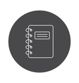 Outline notebook icon