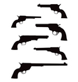 pistol silhouettes vector image vector image