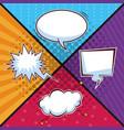 pop art bubbles cartoons vector image