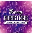 Purple Polygonal background Merry Christmas vector image