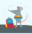rat back to school vector image