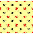Red black monkeys new year background vector image vector image