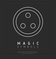 round magical symbol on gray vector image vector image