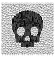 Save the forests concept Skull vector image vector image