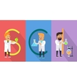 Science Conceptual Banner Human Characters vector image vector image