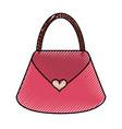 scribble purse cartoon vector image