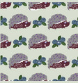 seamless pattern with cute hedgehogs kids vector image
