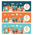 seaside city in day and night landscape vector image vector image