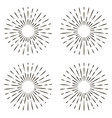 set icon sign sun rays sun shine rays vector image
