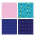 set memphis backgrounds vector image vector image