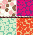Set of floral seamless pattern vector image vector image