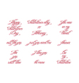 Set of handwritten calligraphic inscriptions vector image