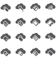 Set of icons Cloud storage concept vector image vector image