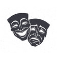 silhouette two theatrical comedy and drama mask