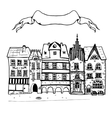 Sketch of an old european buildings with vector image vector image