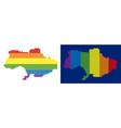 spectrum pixel dotted ukraine map vector image vector image