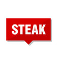 steak red tag vector image vector image