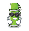 super cool thermos character cartoon style vector image vector image