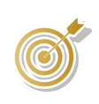 target with dart golden gradient icon vector image vector image