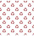 Three circular arrows pattern cartoon style vector image vector image