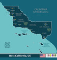 west california united states vector image
