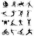 Sports people icons set vector image