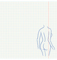 Female Body Sketch vector image