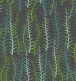Algae seamless pattern Green long Plant into sea vector image vector image