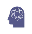 artificial intelligence icon ai head deep vector image vector image