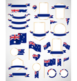 Australian flag decoration elements vector image vector image