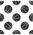 basketball ball icon isolated seamless pattern vector image