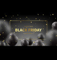 black friday sale promo banner vector image