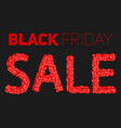 black friday sale sale constructed vector image vector image