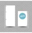 Blank roll up banner display on white vector image