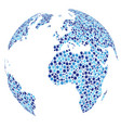 blue dotted abstract globe vector image vector image