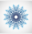 blue gradient snowflake logo winter crystal icon vector image vector image