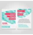 Brochure flier design template poster vector image