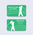 business card design for golf club vector image vector image