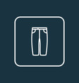 capris icon line symbol premium quality isolated vector image